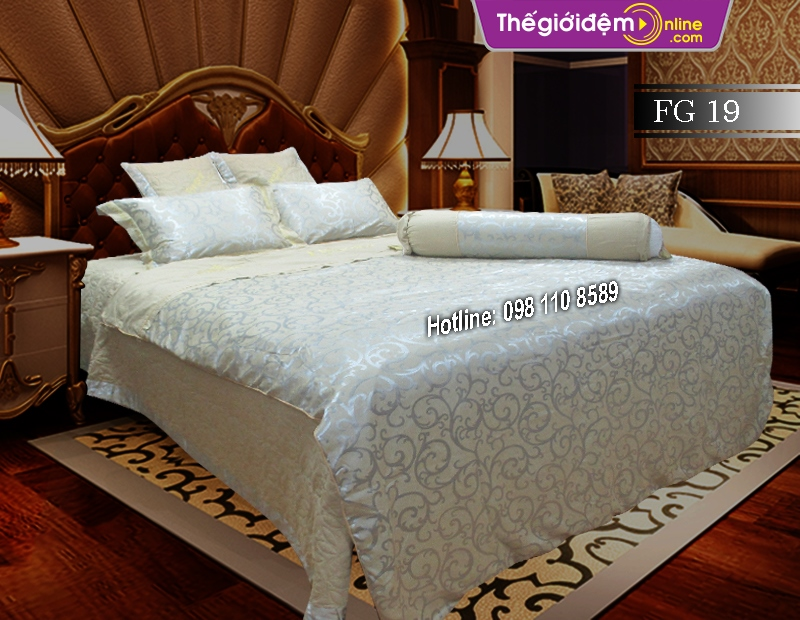 Bộ chăn ga gối Singapore Home Collection FG 19